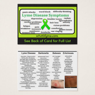 Lyme Disease Symptoms List Informational Card