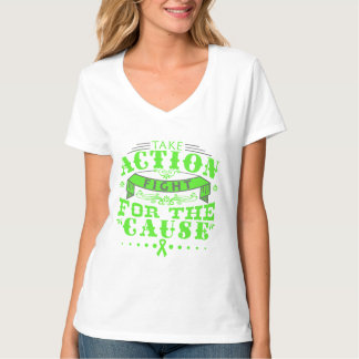 Lyme Disease Take Action Fight For The Cause Tee Shirt