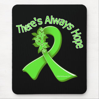 Lyme Disease There's Always Hope Floral Mouse Pad