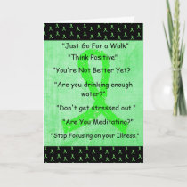 """Lyme Disease """"Things I Wont Say"""" Get Well Card"""