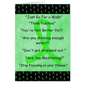 "Lyme Disease ""Things I Wont Say"" Get Well Card"