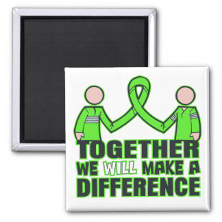 Lyme Disease Together We Will Make A Difference.pn 2 Inch Square Magnet