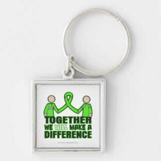 Lyme Disease Together We Will Make A Difference.pn Silver-Colored Square Keychain