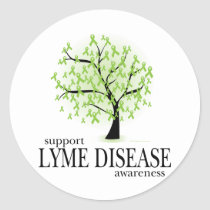 Lyme Disease Tree Classic Round Sticker