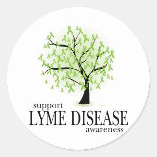 Lyme Disease Tree Classic Round Sticker