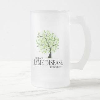 Lyme Disease Tree Frosted Glass Beer Mug