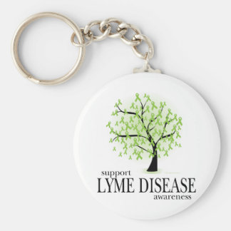Lyme Disease Tree Keychain