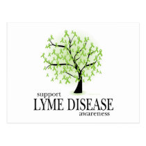 Lyme Disease Tree Postcard