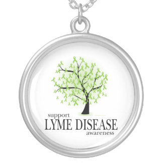 Lyme Disease Tree Silver Plated Necklace