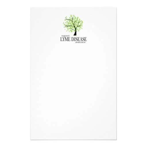 Lyme Disease Tree Stationery