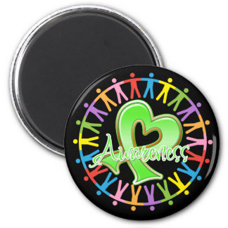 Lyme Disease Unite in Awareness 2 Inch Round Magnet