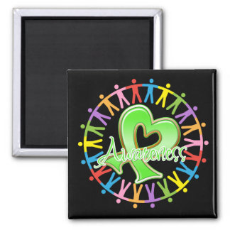 Lyme Disease Unite in Awareness 2 Inch Square Magnet