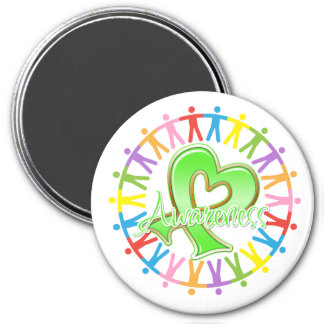 Lyme Disease Unite in Awareness 3 Inch Round Magnet
