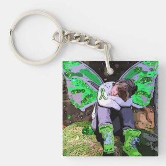 Lyme Disease Warrior Angel or Fairy Key Chain