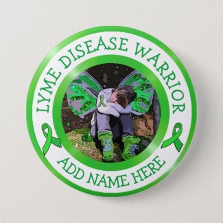 Lyme Disease Warrior Ribbon Support Button