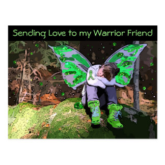 Lyme Disease Warrior Tired and Resting Post Card