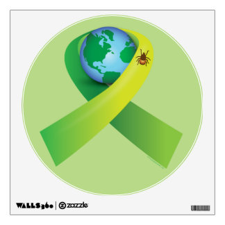 Lyme Disease with Tick around the World Wall Sticker