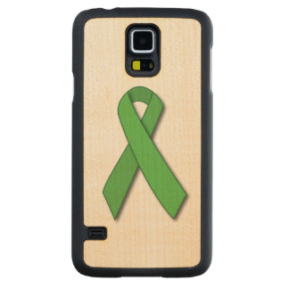 Lyme DiseaseAwareness Ribbon Carved Maple Galaxy S5 Slim Case