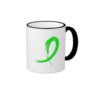 Lyme Disease's Lime Green Ribbon A4 Coffee Mug