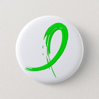 Lyme Disease's Lime Green Ribbon A4 Pinback Button