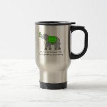 Lyme Elephant of Awareness and Hope Travel Mug