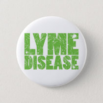 "Lyme Green ""Lyme Disease"" design with ticks Button"