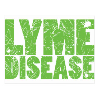 Lyme Green Lyme Disease design with ticks Post Card