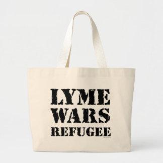 Lyme guerrea refugiado bolsa tela grande