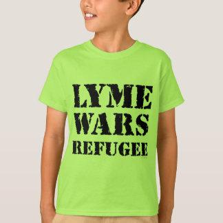 Lyme guerrea refugiado playera