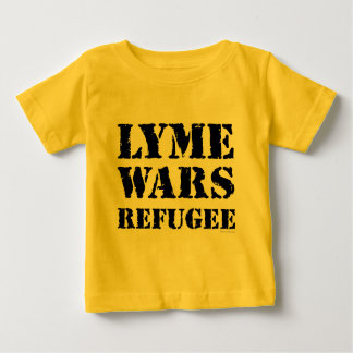 Lyme guerrea refugiado playera de bebé