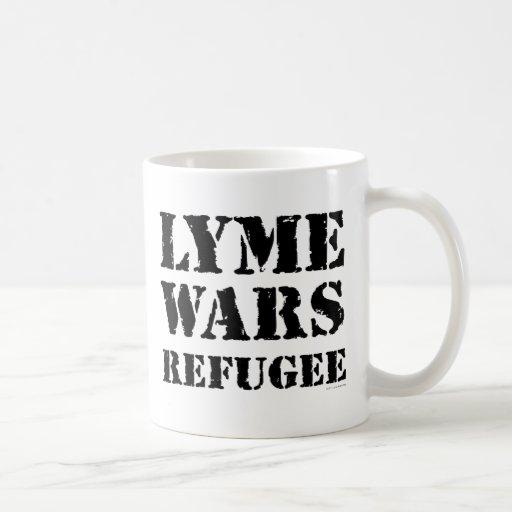 Lyme guerrea refugiado taza de café