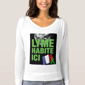 Lyme Livers Here Lyme Habite Ici T-shirt
