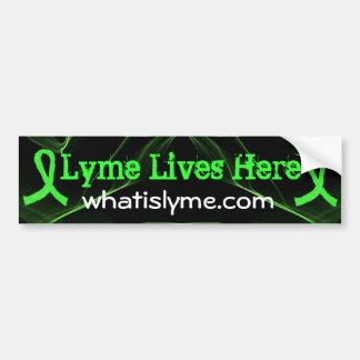 Lyme Lives Here Lyme Awareness Bumper Sticker Car Bumper Sticker