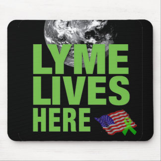 Lyme Lives Here Mouse Pad for the US