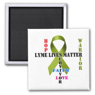 Lyme Lives Matter 2 Inch Square Magnet