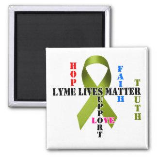 Lyme Lives Matter II 2-Inch Square Magnet