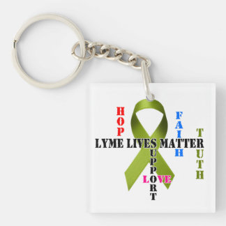Lyme Lives Matter II Square Single-Sided Keychain