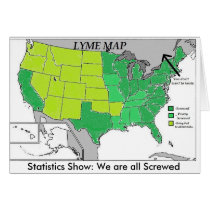 Lyme Map Statistics Map, Lyme Disease Humor