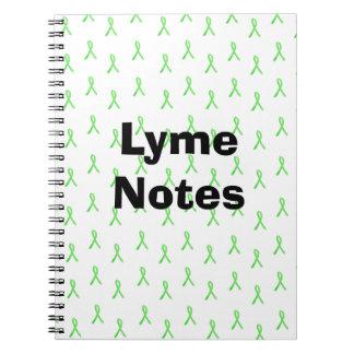 Lyme Notes Lyme Disease Awareness Ribbons Spiral Notebook