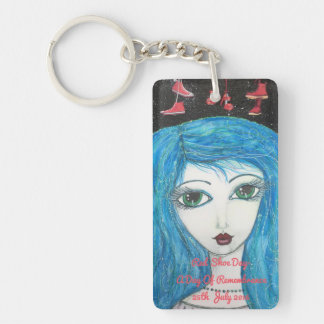 Lyme Patient, Red Shoe Day, Art Keychain