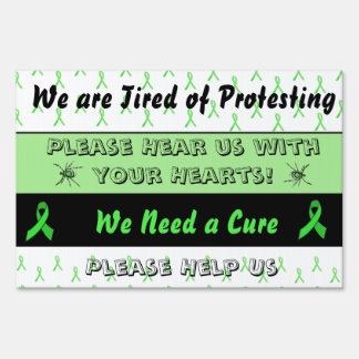 Lyme Protest Yard or Protest Sign