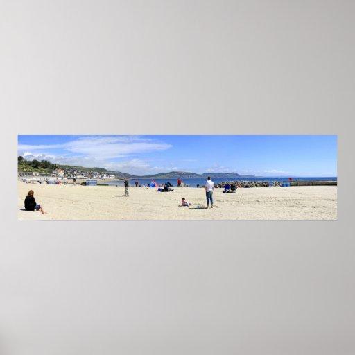 Lyme Regis beach in Dorset Poster