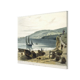 Lyme Regis, from Charmouth, Dorset, from 'A Voyage Canvas Print