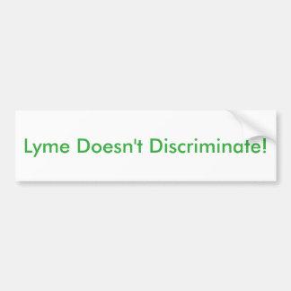 Lyme sticker car bumper sticker