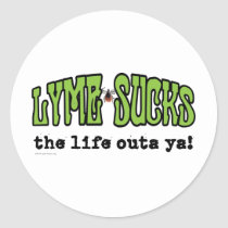 Lyme Sucks Classic Round Sticker