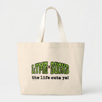Lyme Sucks Large Tote Bag