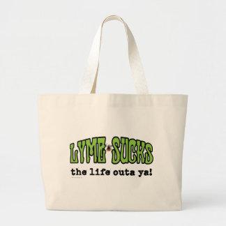 Lyme Sucks Large Tote Bag
