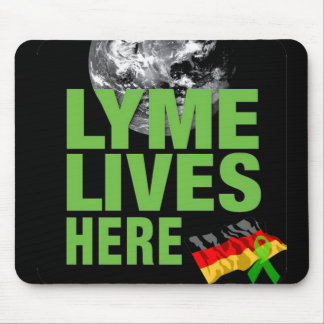 Lyme vive aquí cojín de ratón Alemania Tapetes De Raton