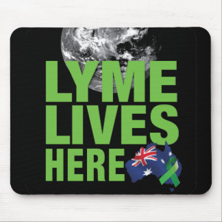 Lyme vive aquí cojín de ratón para Australia Tapetes De Raton