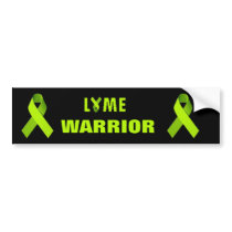 Lyme Warrior Green Ribbon Activism Bumber Sticker